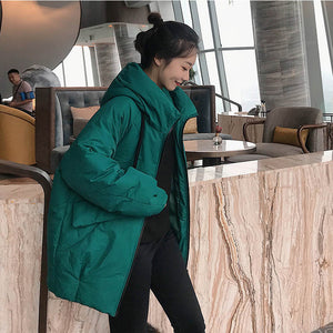 Coat Warm Padded Winter Mujer
