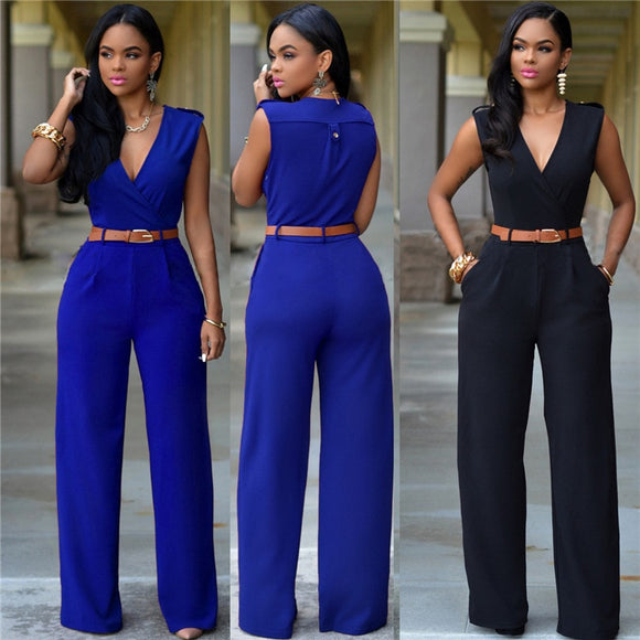 With Pockets Casual Jumpsuit