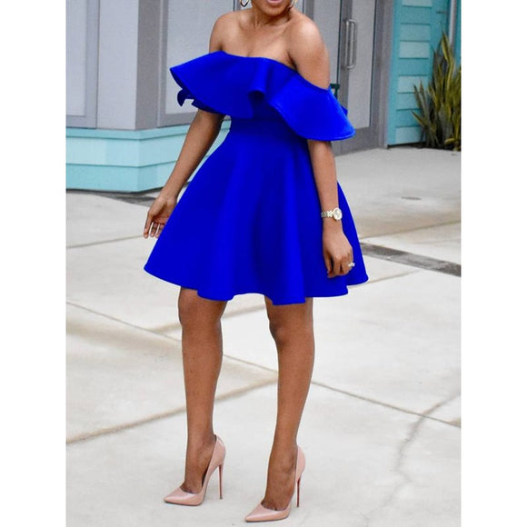 Blue Size Party Plus Dress