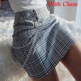 Plaid Skirts Bodycon Office Skirt
