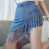 Summer Jeans Fake Korean Skirt