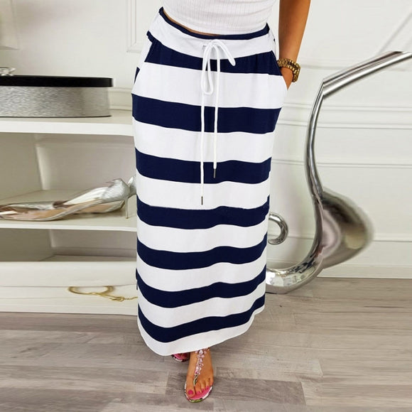 High Waist Sexy Stripe Skirt