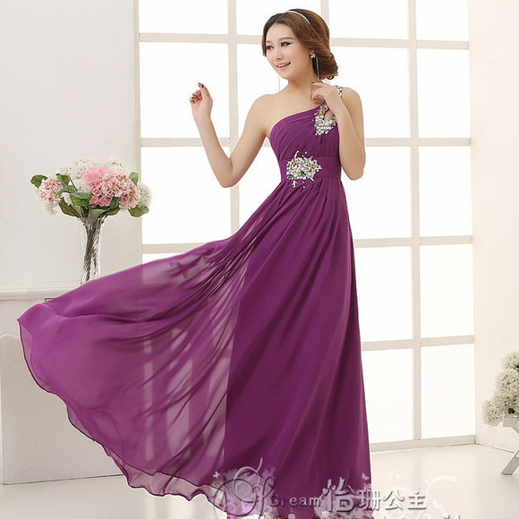 Dhonneur Chiffon Line One Purple