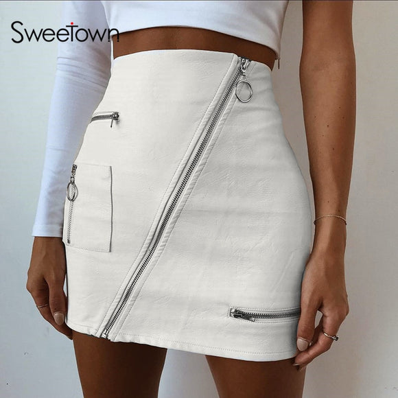 Leather Summer Short Skirt