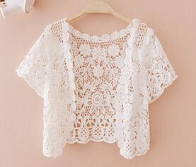 Short Sleeves Lace Cardigan