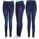 Faux Denim Jeans Leggings