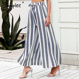 Split Stripe Wide Pants