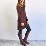 Long Sleeve Elbow Patchwork
