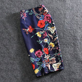 Print Flowers Pencil Skirt