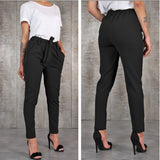 BornToGirl Casual Slim Chiffon Thin Pants