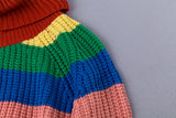 Pullover Winter Rainbow Striped Sweaters