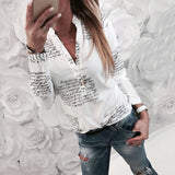 Fashion V Neck Long Sleeve Sexy Beach Blouse