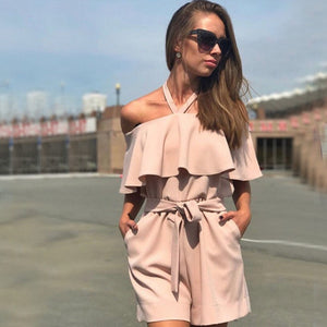 Off The Shoulder Ruffles Romper