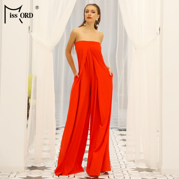 Sexy Solid Summer Color Jumpsuit