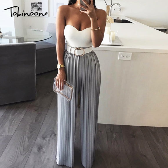 Backless Off Shoulder Jumpsuit