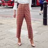 Stripe Splice Cropped Pants
