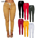 Autumn Ladies Cargo Pants Lace up