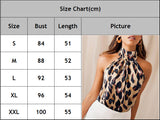 Casual Backless Leopard Blouse