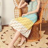 Summer Knitted Vestidos Slim Holiday Dress