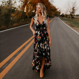 Backless Floral Spring Dress
