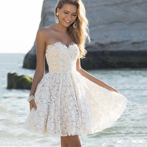 Sexy Off Shoulder White Homecoming Dress