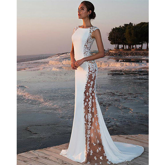 Elegant  White Mermaid Dress
