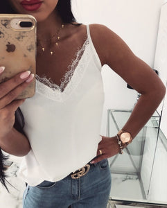 Women Patchwork Lace Off-Shoulder Blouse