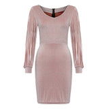 Hollow Sexy Party Long Sleeve Dress