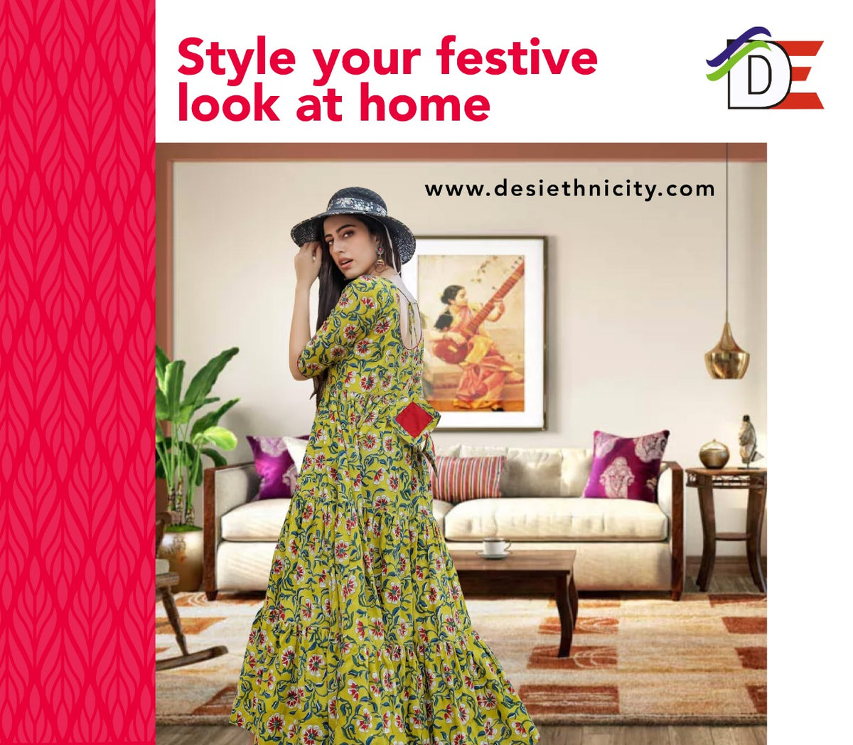 Style your festive look at home