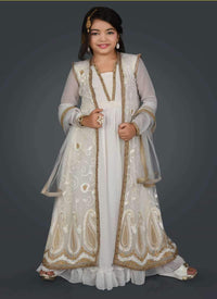 Pretty White Color Net Fabric  Salwar Kameez