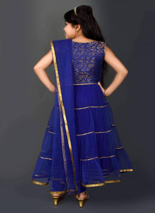 Pretty Blue Color Net Fabric Salwar Kameez
