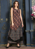 "Beautiful Brown Color Cotton Fabric Kurti Size XL(42"")"