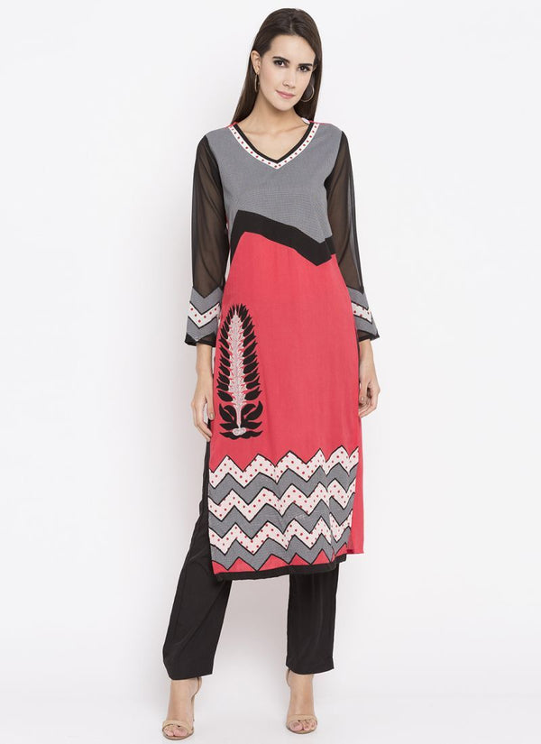 Beautiful Multi Color Cotton Fabric Kurti