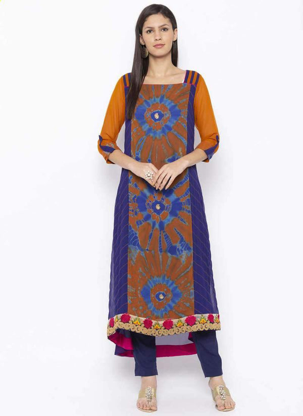 Amazing Brown Color Georgette Fabric Kurti