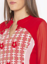 Amazing Red  Color Georgette Fabric Kurti