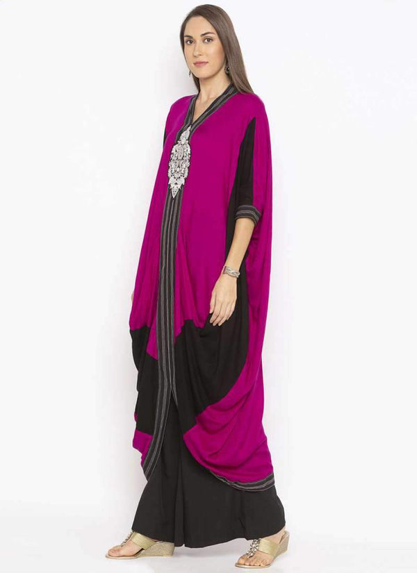 Amazing Purple Color Cotton Fabric Kurti