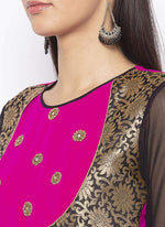 Amazing Pink Color Georgette Fabric Kurti
