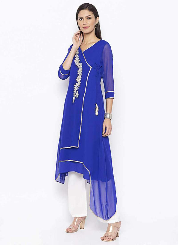 Amazing Blue Color Georgette Fabric Kurti