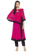 Amazing Magenta Color Georgette Fabric Designer Kurti Set