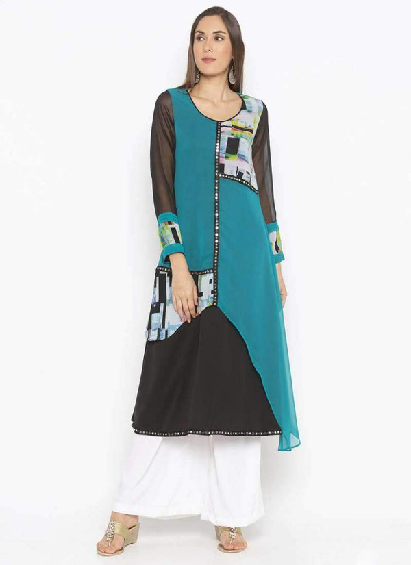 Amazing Multi Color Georgette Fabric Kurti