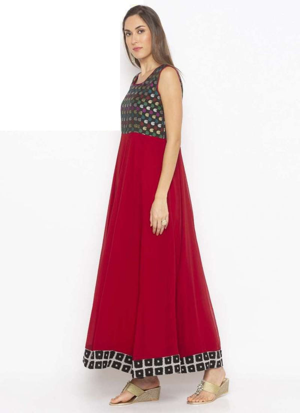 Amazing Maroon Color Georgette Fabric Kurti
