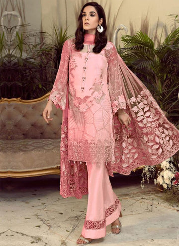 Magnetise Pink Color Georgette Fabric Designer Suit