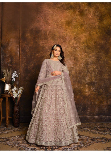 Peerless Pink Color Net Fabric Wedding Suit