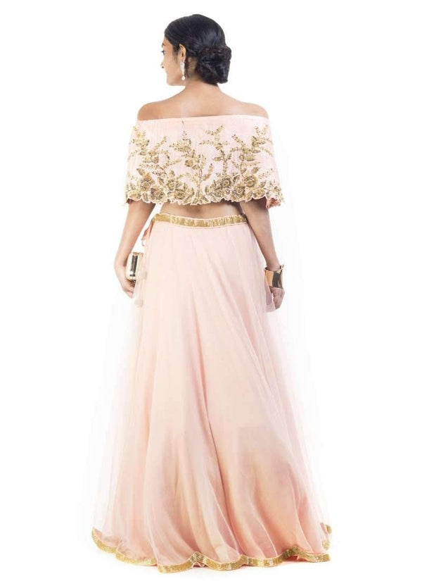 Sensational Pink Color Silk Fabric Party Wear Lehenga