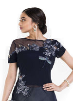 Gorgeous Navy Blue Color Georgette Fabric Designer Kurti
