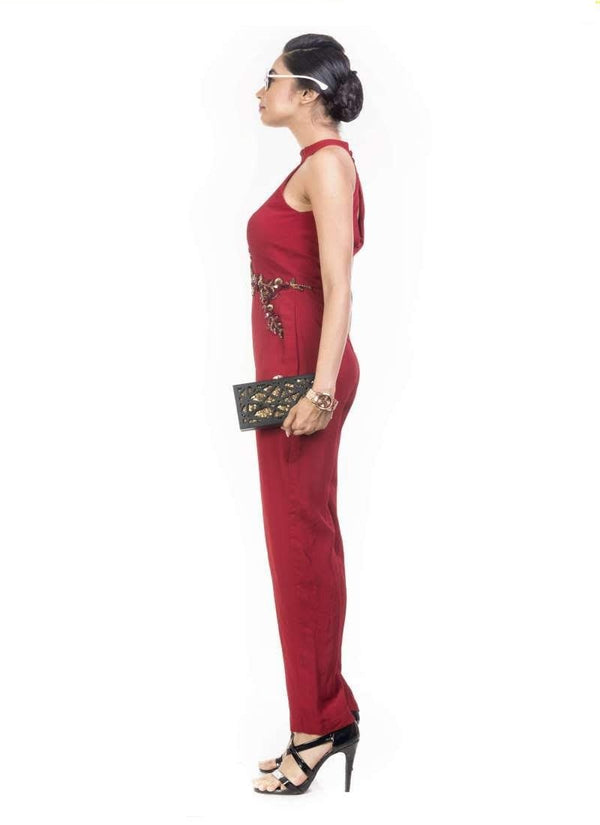 Exclusive Red Color Jersey Fabric Indowestern