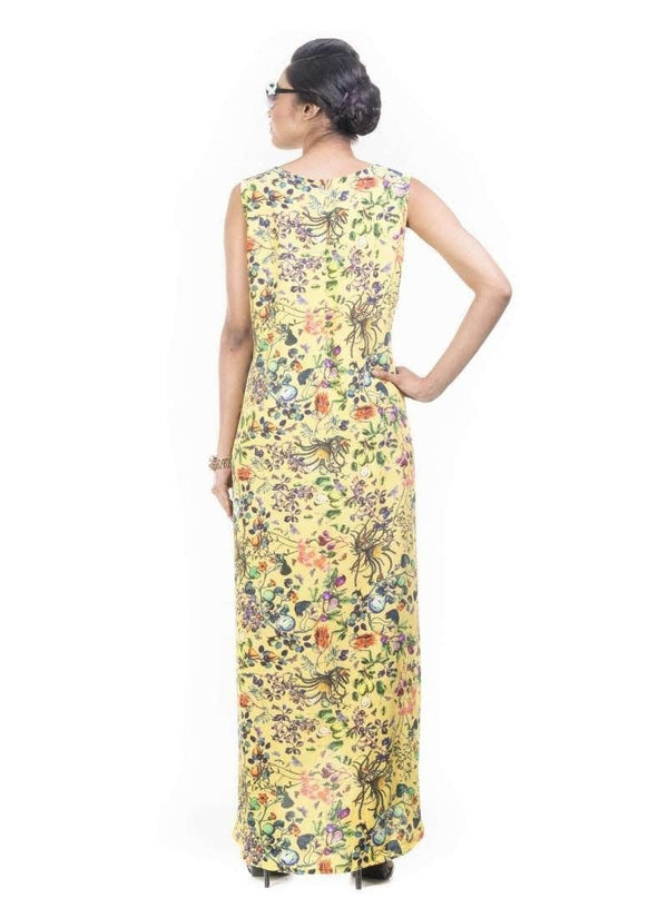 Exclusive Yellow Color Crepe Fabric Indowestern