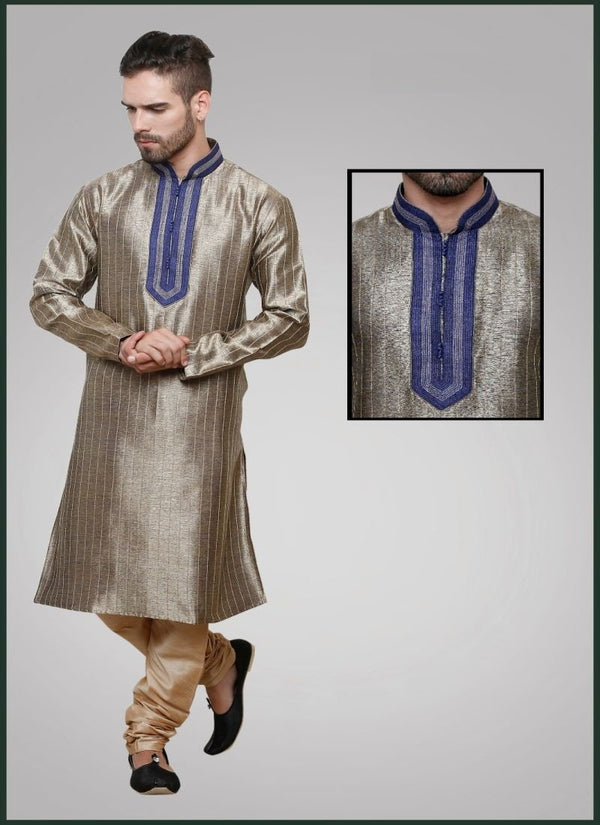 Elegant Grey Color Jute Fabric Mens Wear