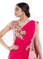 Amazing Pink Color Georgette Fabric Gown