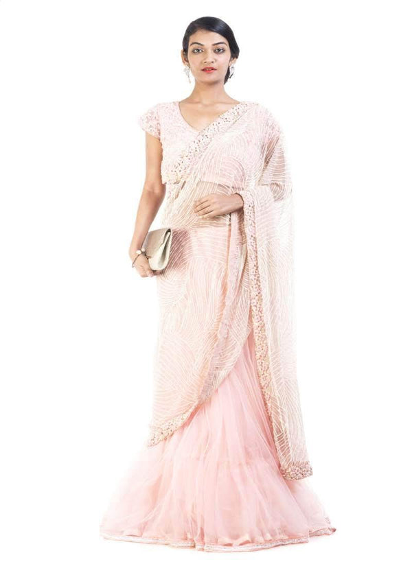 Adorable Pink Color Silk Fabric Saree